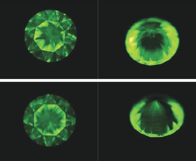 5粒 CVD合成钻石的鉴定特征
