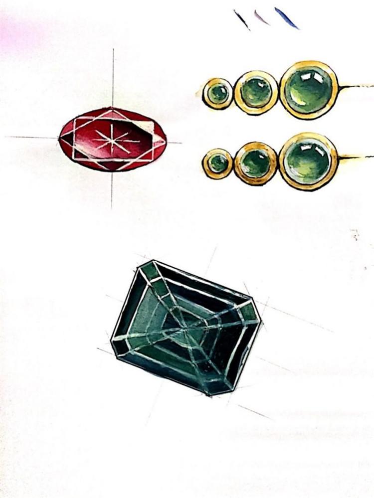 彩铅手绘金属材质图片